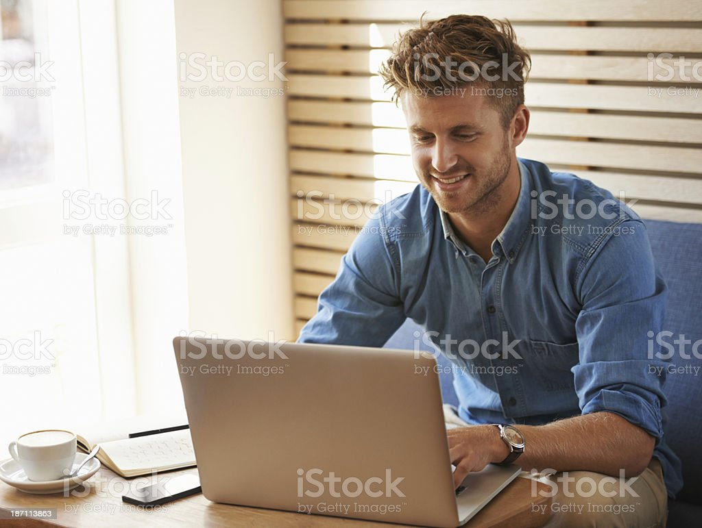 Wifi is a gift for the traveling entrepreneur royalty-free stock photo