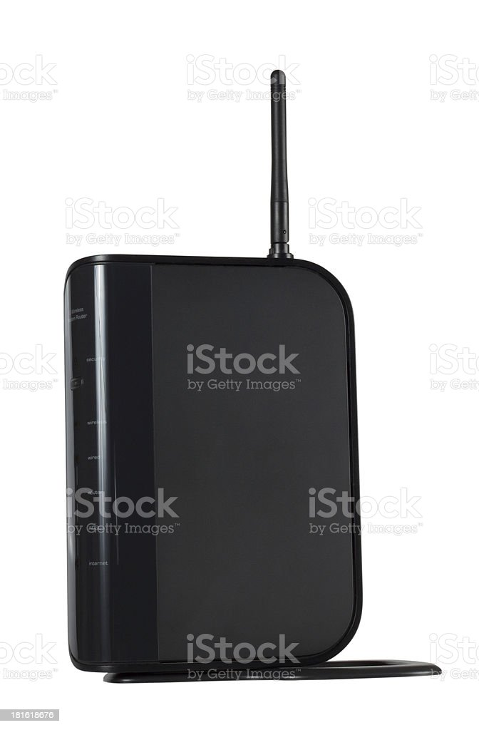 Wi-Fi modem for internet stock photo