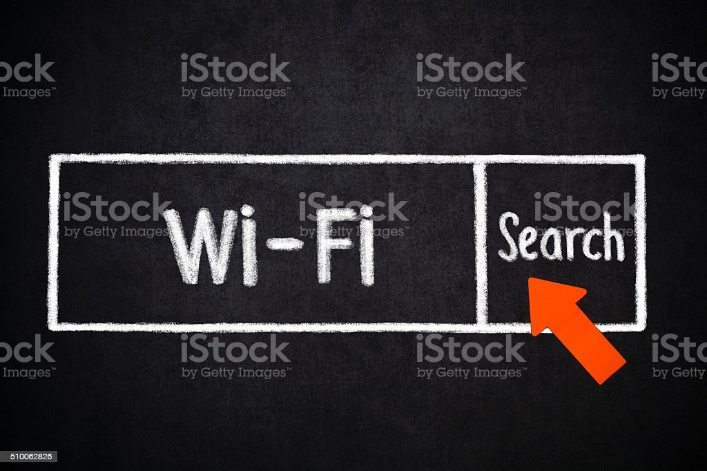 wifi  search stock photo