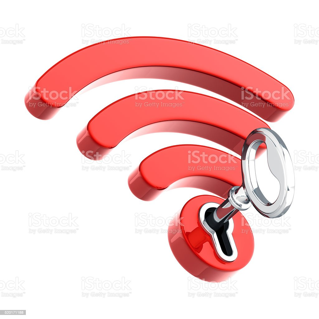 WiFi Security stock photo