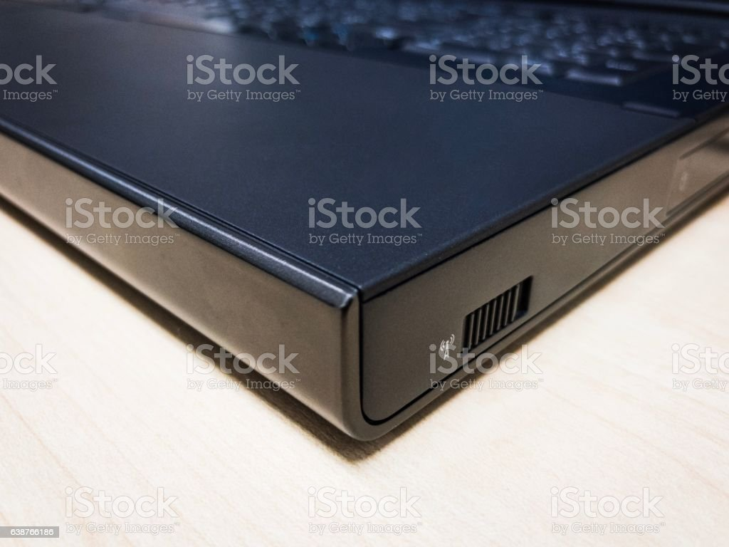 Wifi switch on laptop stock photo