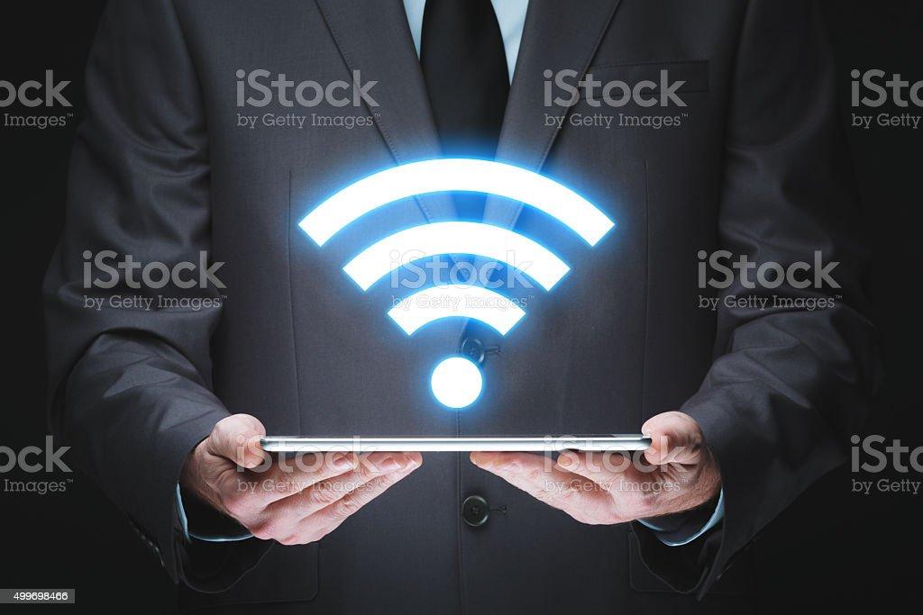 Wifi technology stock photo