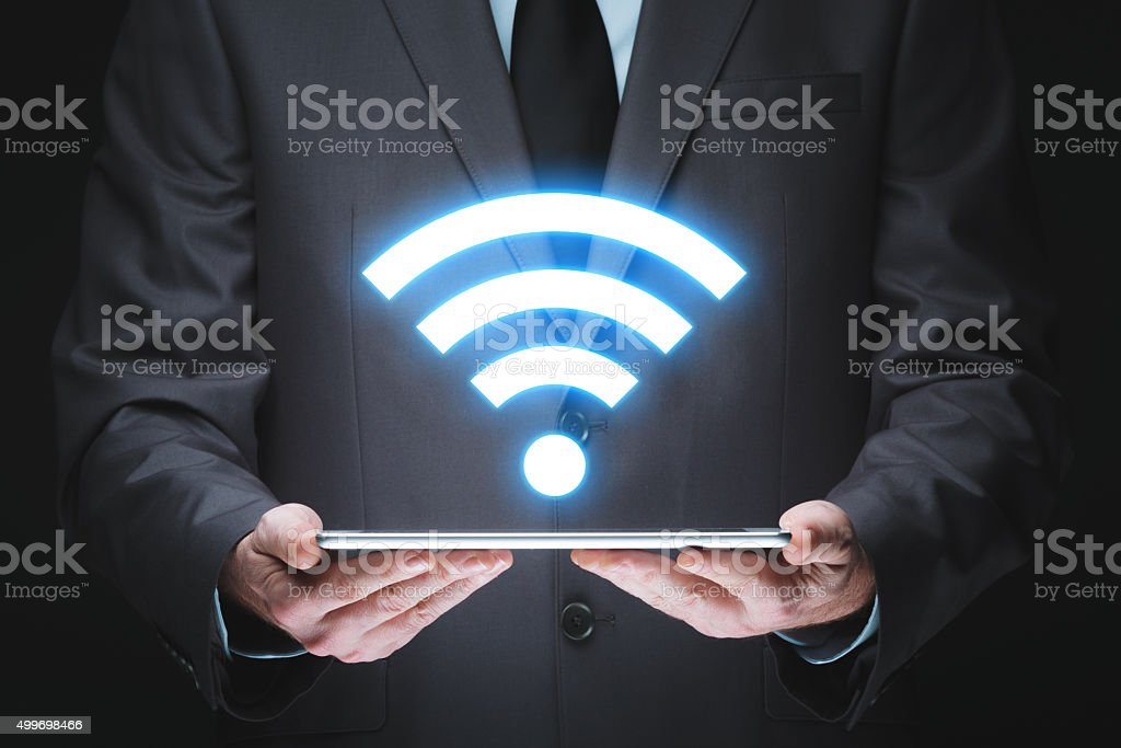 Wifi technology stock photo