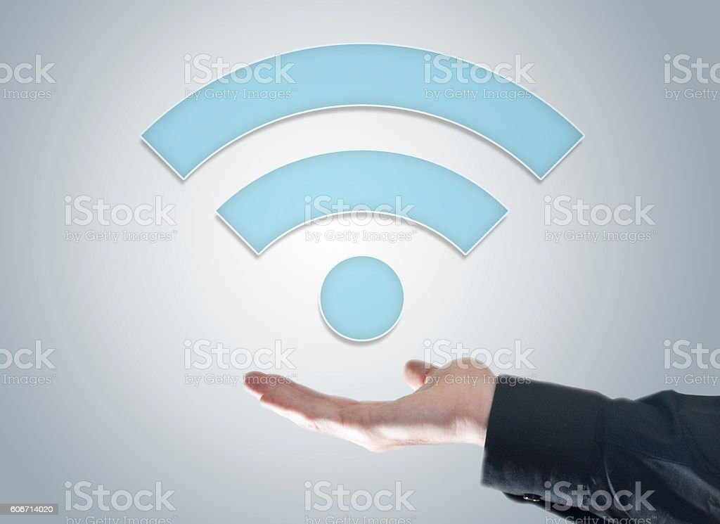 WiFi technology / Touch screen conept (Click for more) stock photo