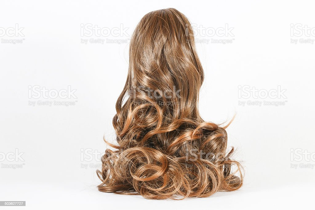 wig hair stock photo