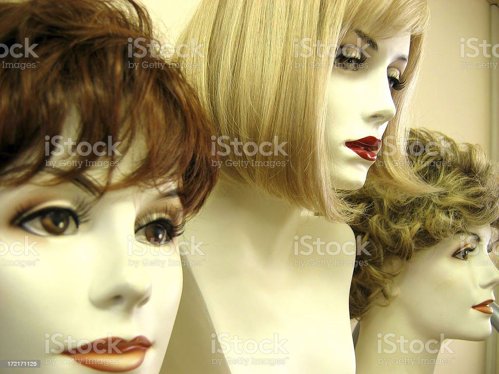 wig models 1 royalty-free stock photo
