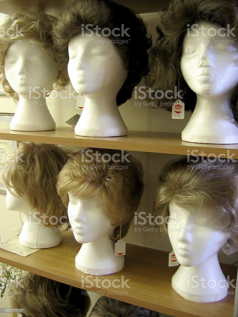 wig models 2 royalty-free stock photo