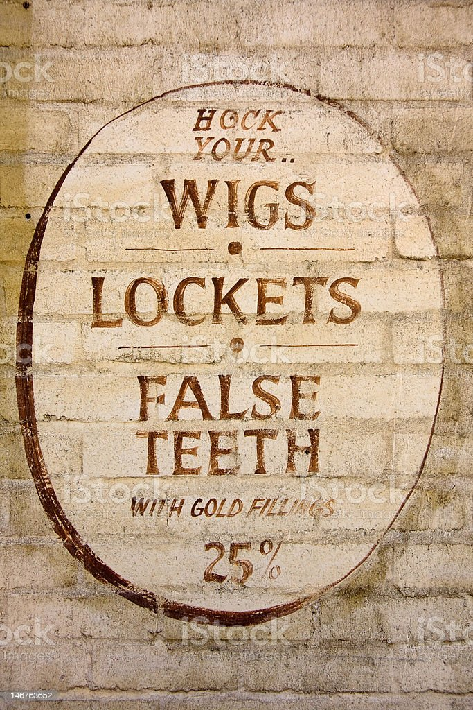 Wigs, Lockets and False Teeth royalty-free stock photo