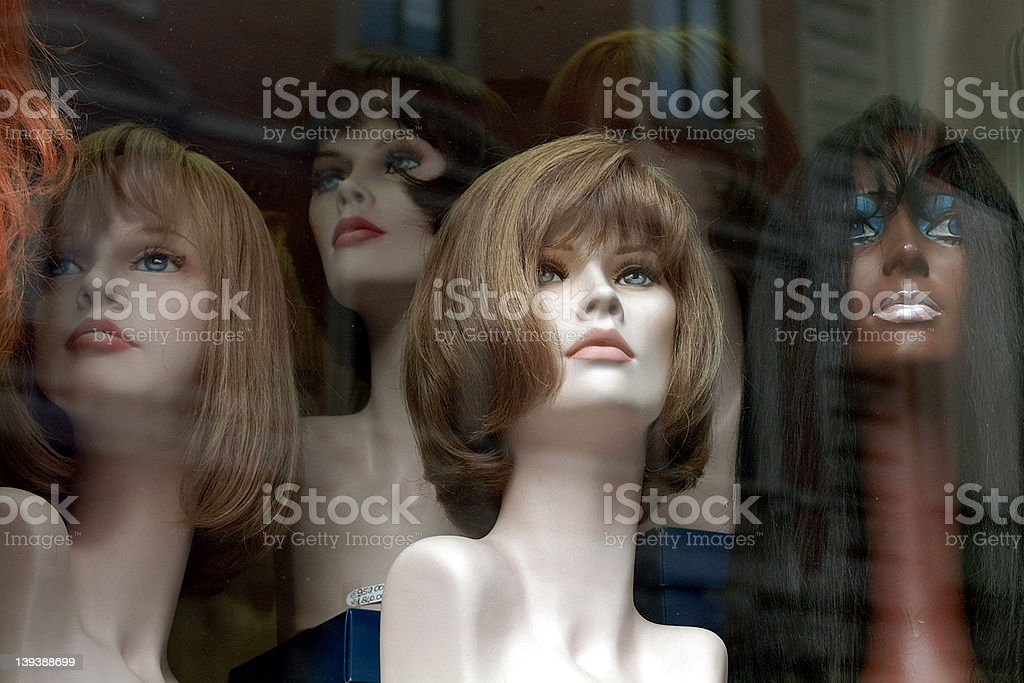 wigs royalty-free stock photo