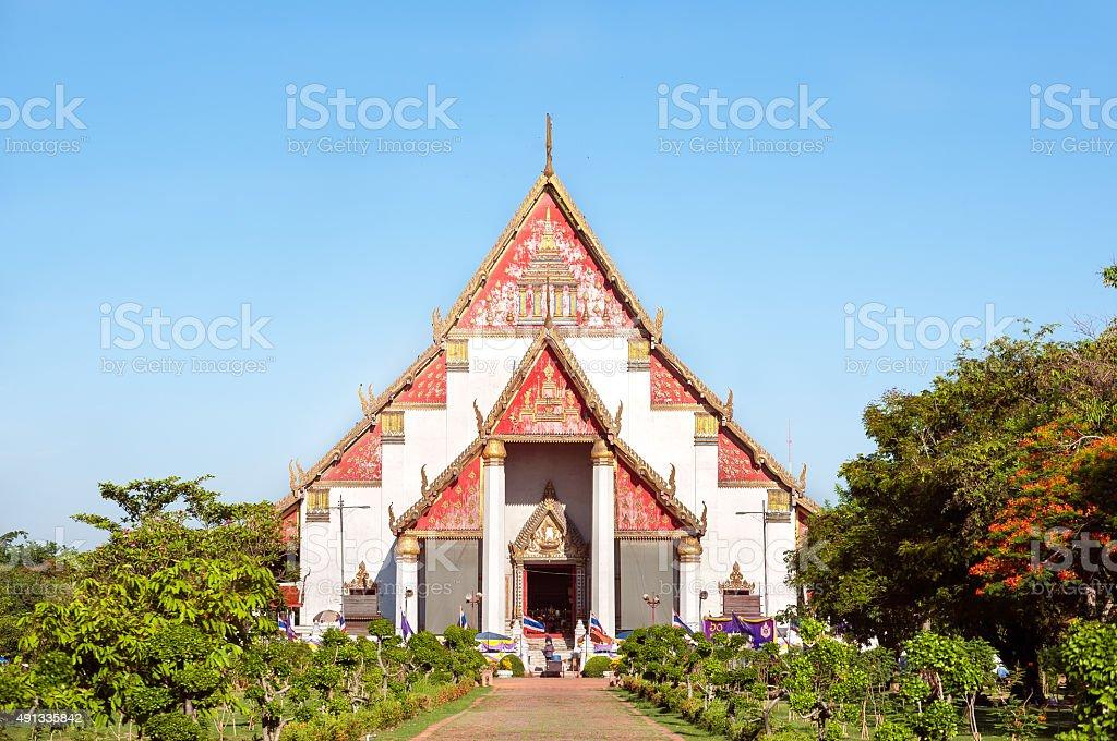 Wihan Phra Mongkhon Bophit, Ayutthaya, Thailand stock photo