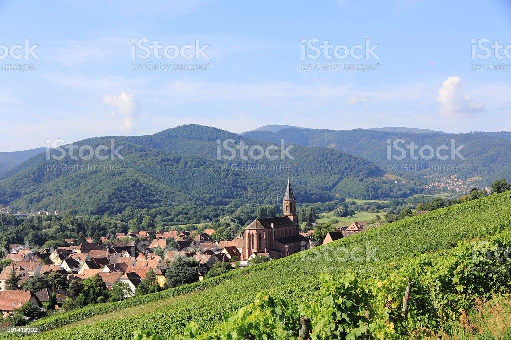 Wihr-au-Val, village of Alsace stock photo