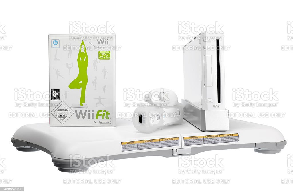 Wii fit system by Nintendo stock photo