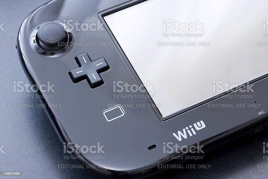 Wii U gamepad controller stock photo