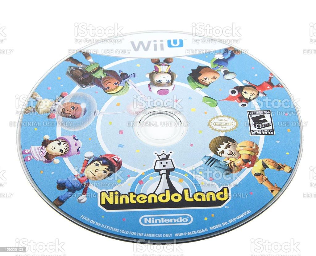 Wii U NintendoLand game royalty-free stock photo