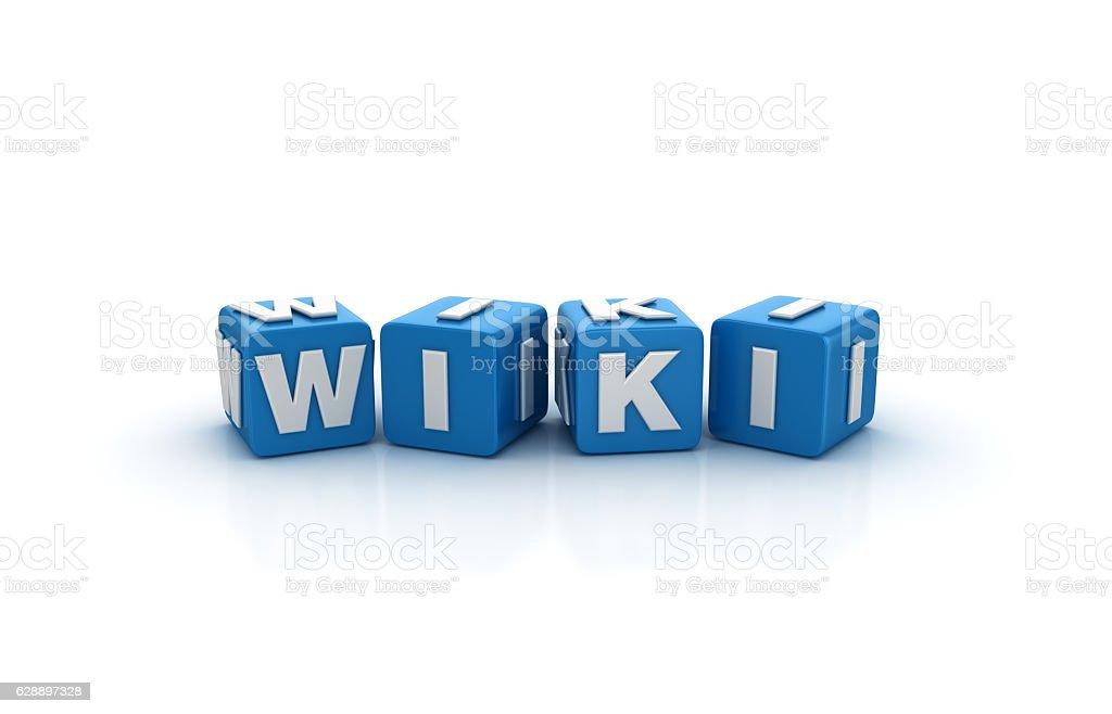 Wiki Buzzword Cubes - 3D Rendering stock photo