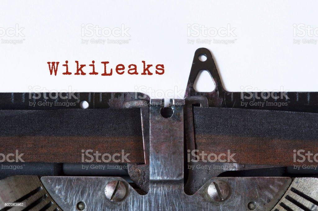 WikiLeaks stock photo