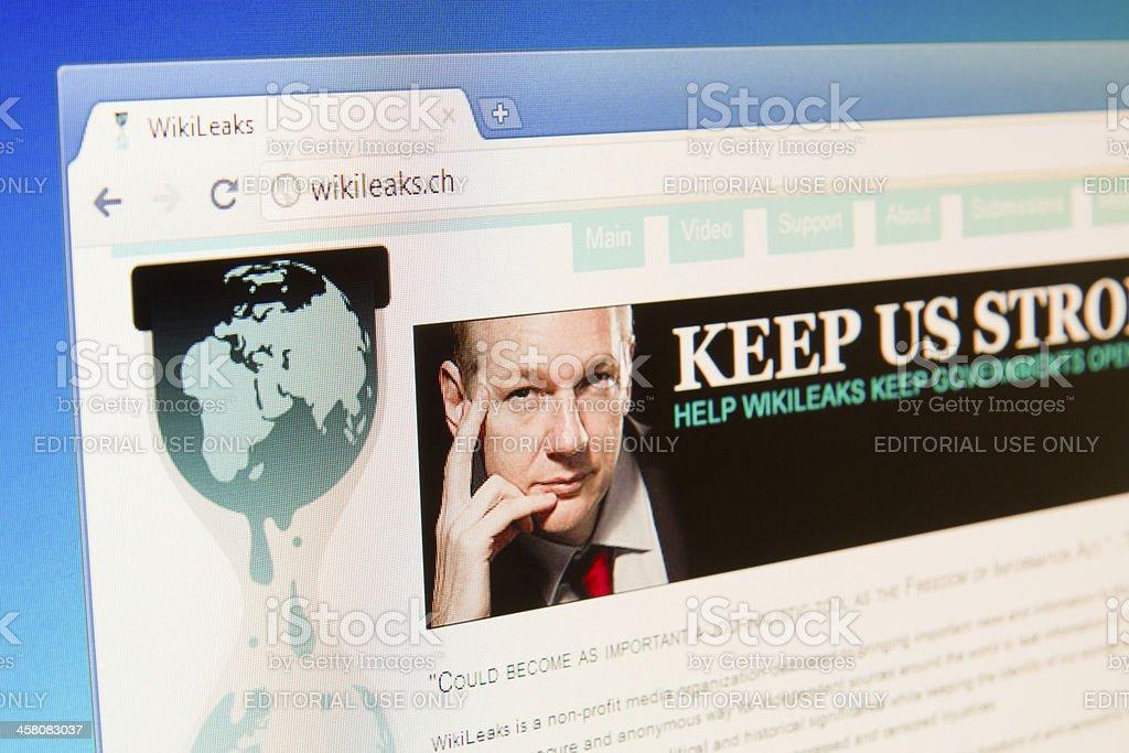 Wikileaks Website wikileaks.ch stock photo