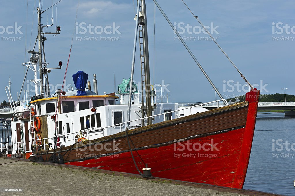 Wiking boat at Schlei in Kappeln stock photo