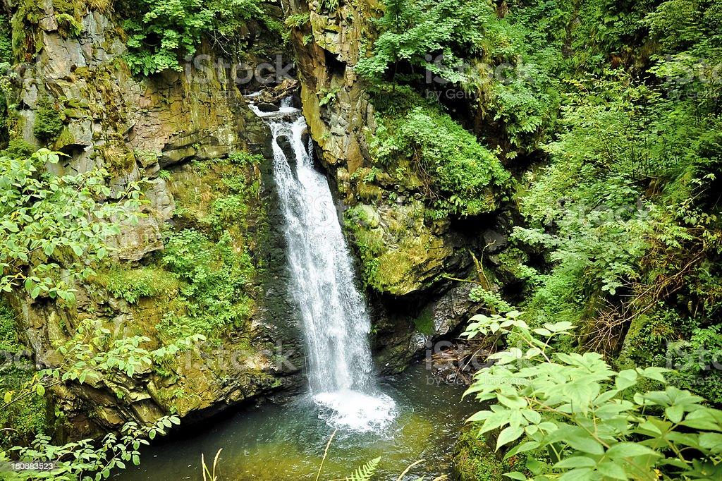 Wilczki falls, Sudety, Polen Lizenzfreies stock-foto