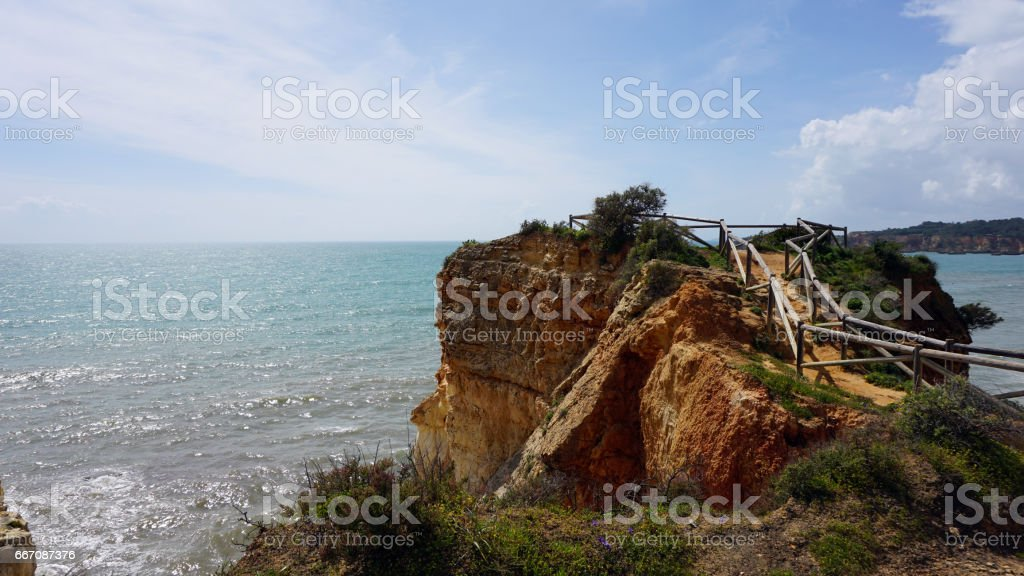 wild algarve coast stock photo