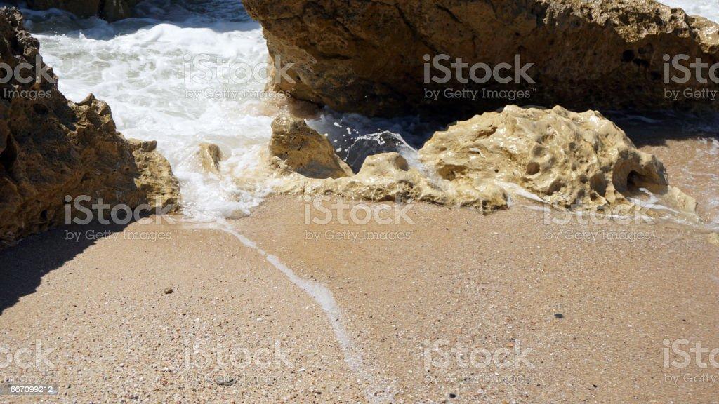 wild algarve coast stock photo