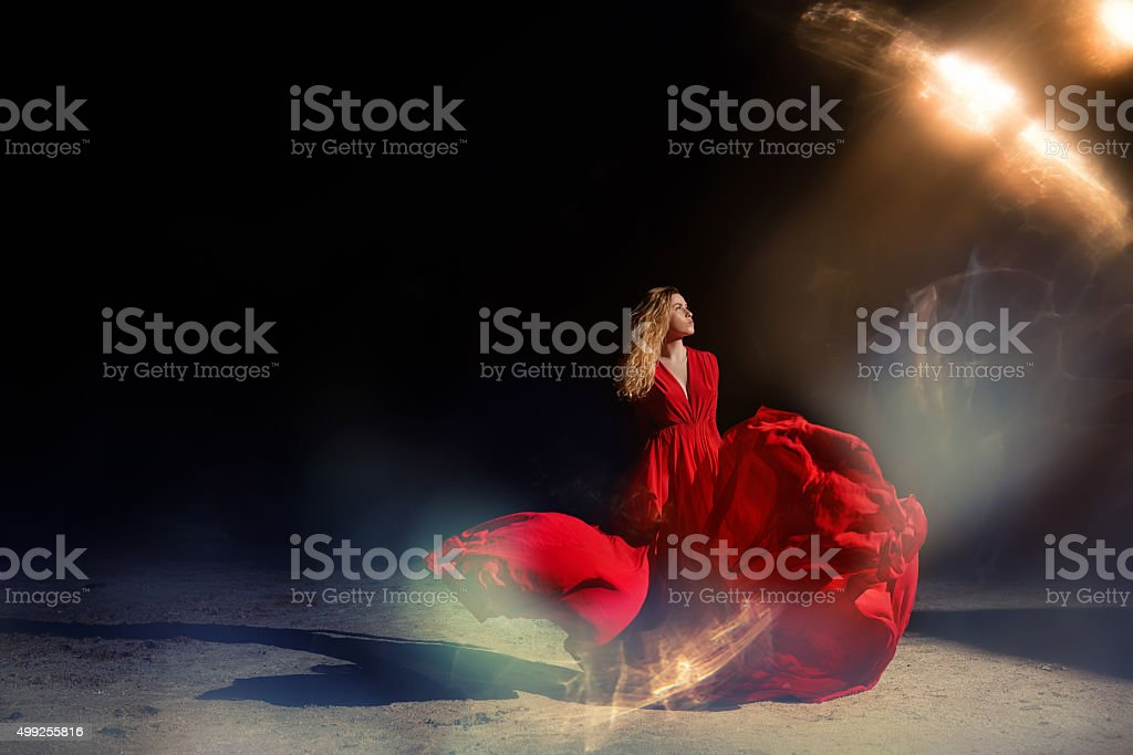 wild and free in the night stock photo