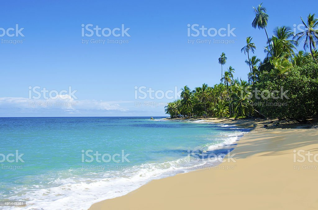 Wild beach Chiquita and Cocles in Costa Rica stock photo
