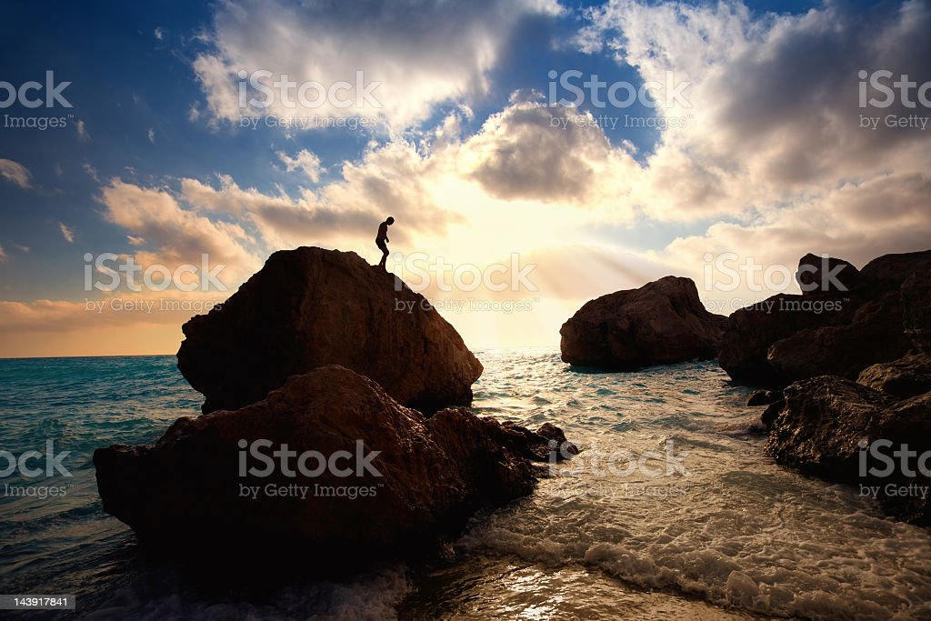 Wild beach paradise royalty-free stock photo