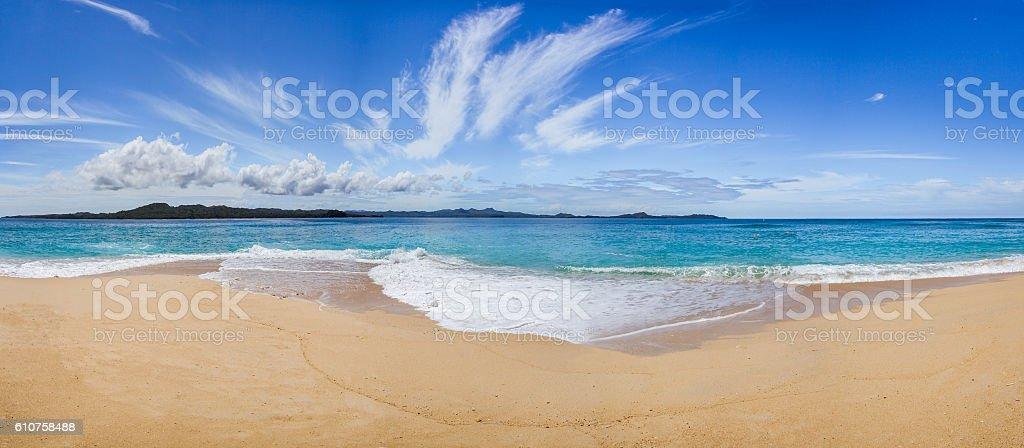 Wild beach stock photo
