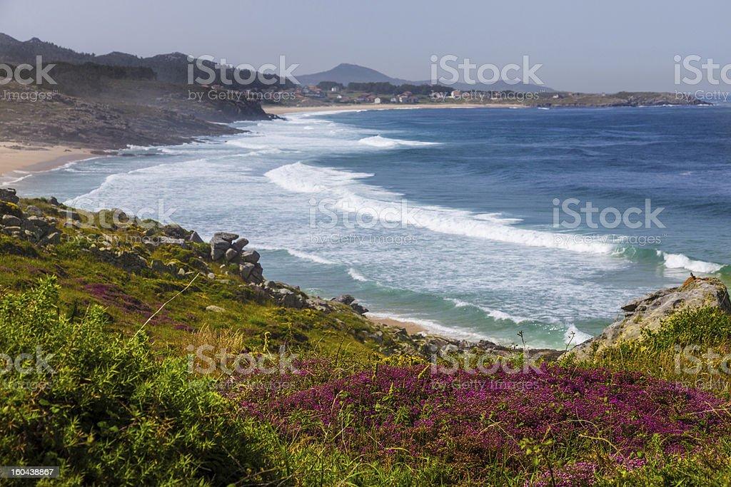 Wild beaches in La Coru?a stock photo