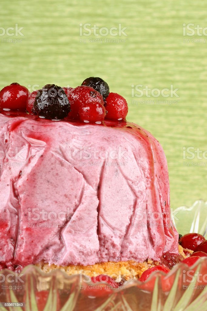 Wild berries bavarian cream (bavarese) stock photo