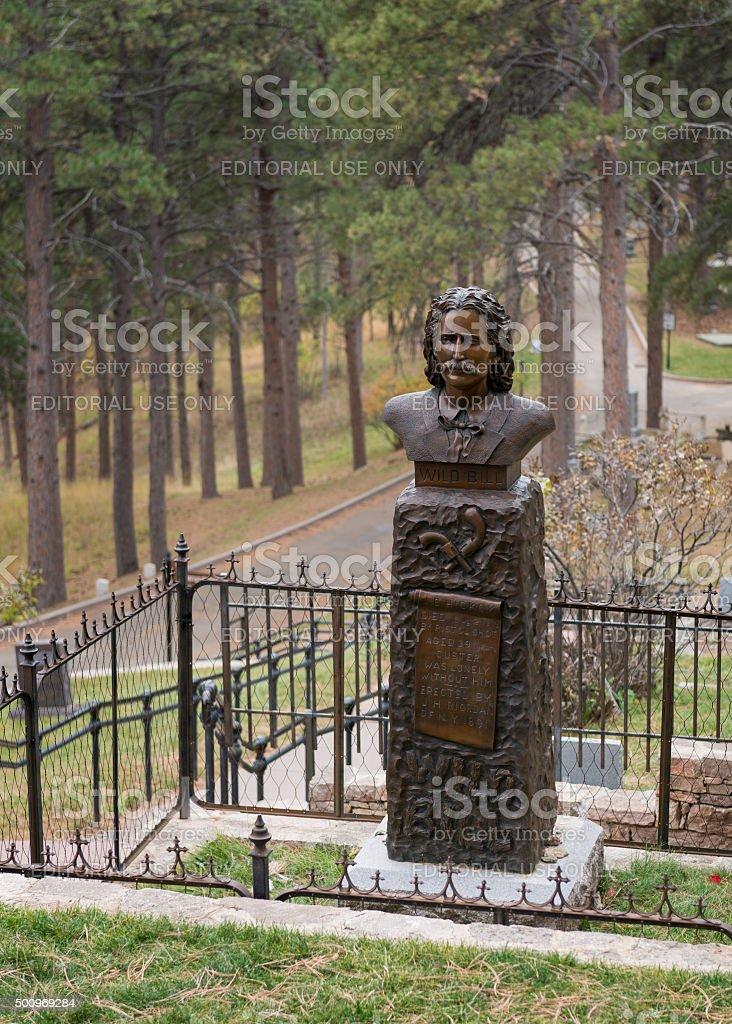 Wild Bill Hickok burial site stock photo