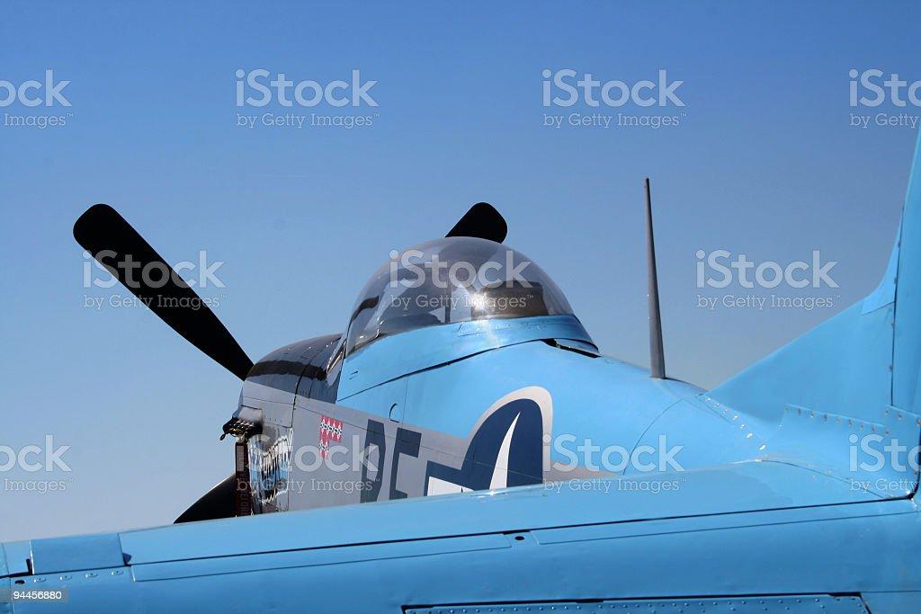 Wild Blue Yonder - P-51 Mustang royalty-free stock photo