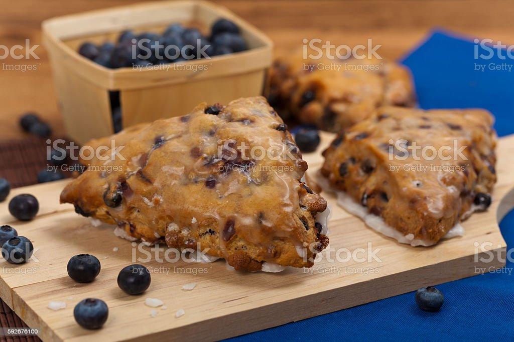Wild Blueberry Scone stock photo