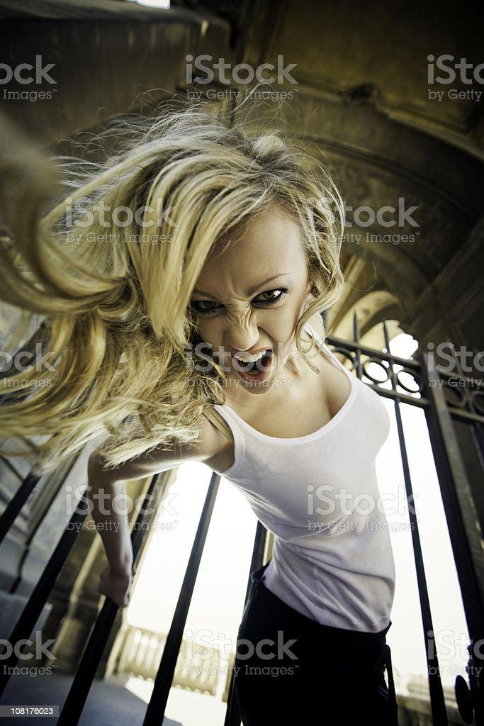 wild catwoman royalty-free stock photo