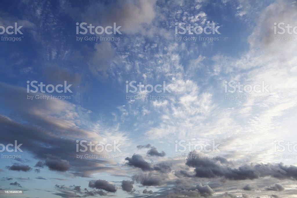 wild cloudy blue sky royalty-free stock photo