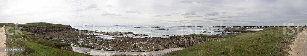 Wild Coast at Quiberon stock photo