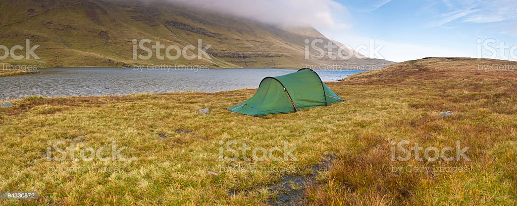Wild country camping royalty-free stock photo