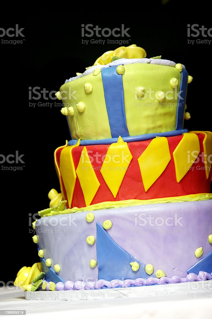 Wild, Crazy, and Funky cake royalty-free stock photo