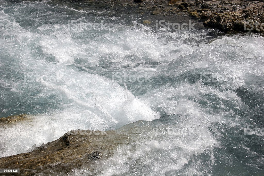 Wild creek in the german Alps (Wimbach near Berchtesgaden) stock photo