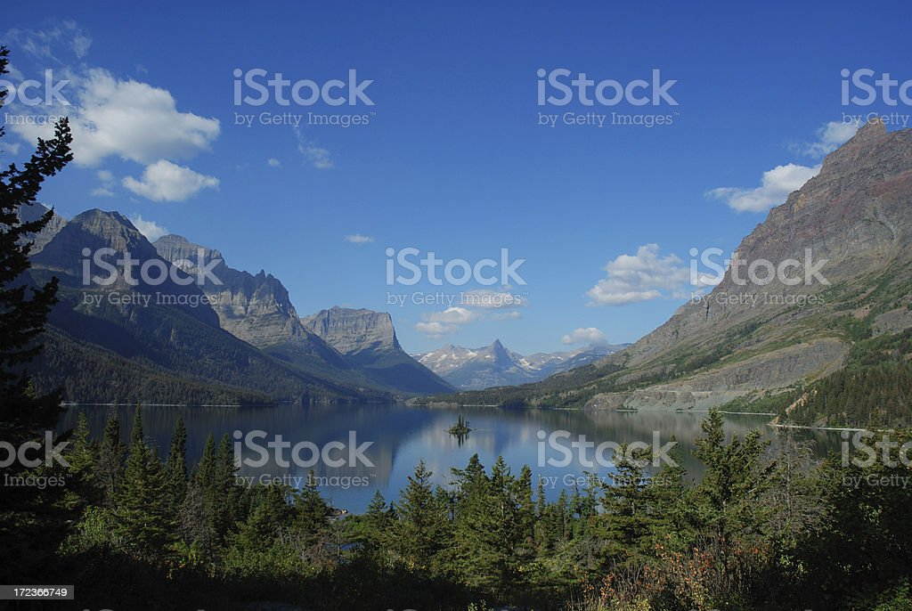 Wild Goose Island in St. Mary Lake royalty-free stock photo