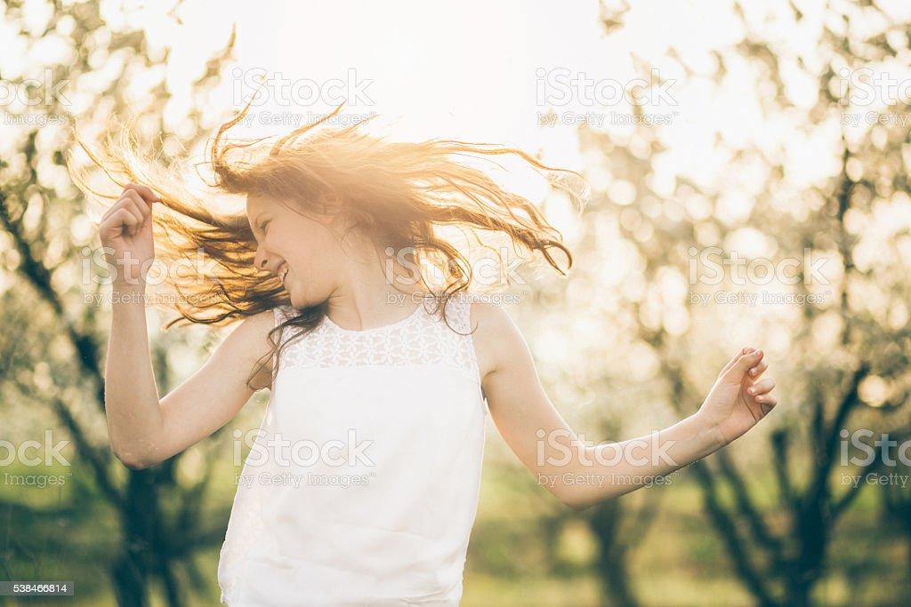 Wild Hair Girl Beauty Portrait stock photo