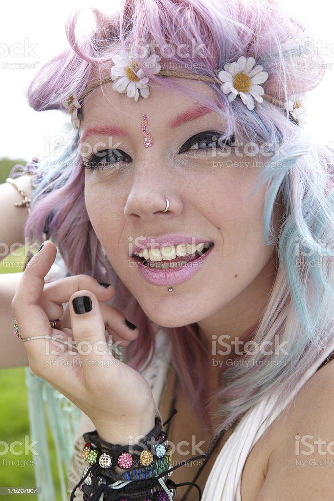 Wild Hippy Girl royalty-free stock photo