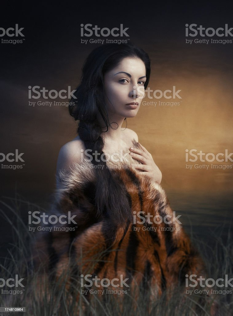 Wild Indian woman royalty-free stock photo