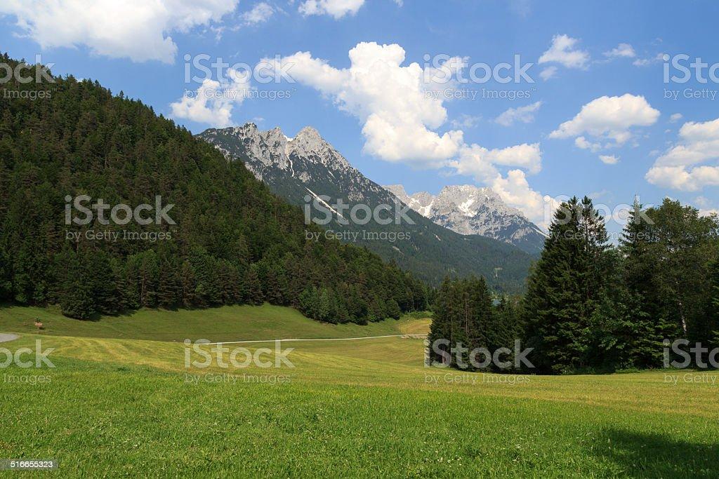 Wild Kaiser mountains stock photo