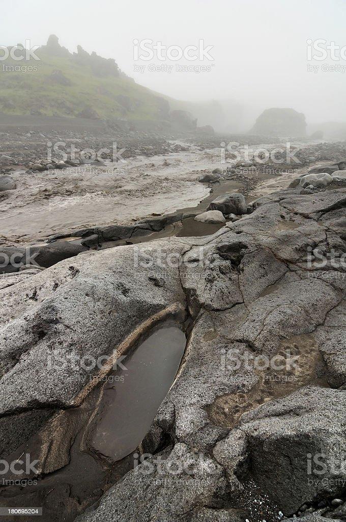 Wild Kamchatka landscape stock photo