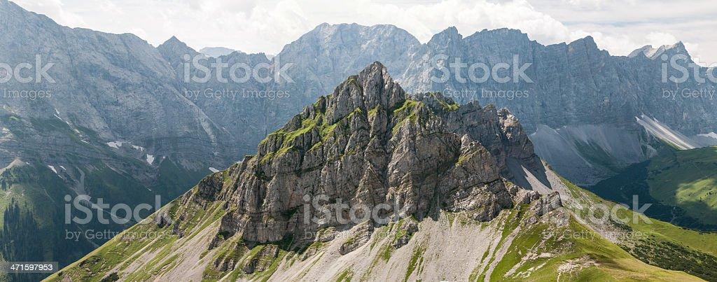 Wild Karwendel Mountain Peak royalty-free stock photo