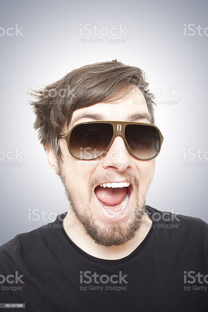 Wild Kid with Sunglasses stock photo