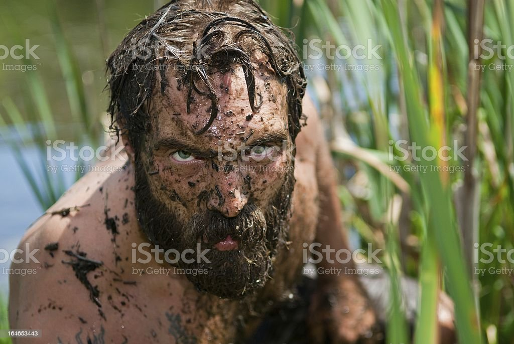 Wild Man stock photo