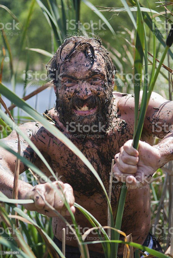 Wild man royalty-free stock photo